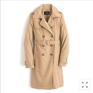 J. Crew Washed Cotton Trench Coat